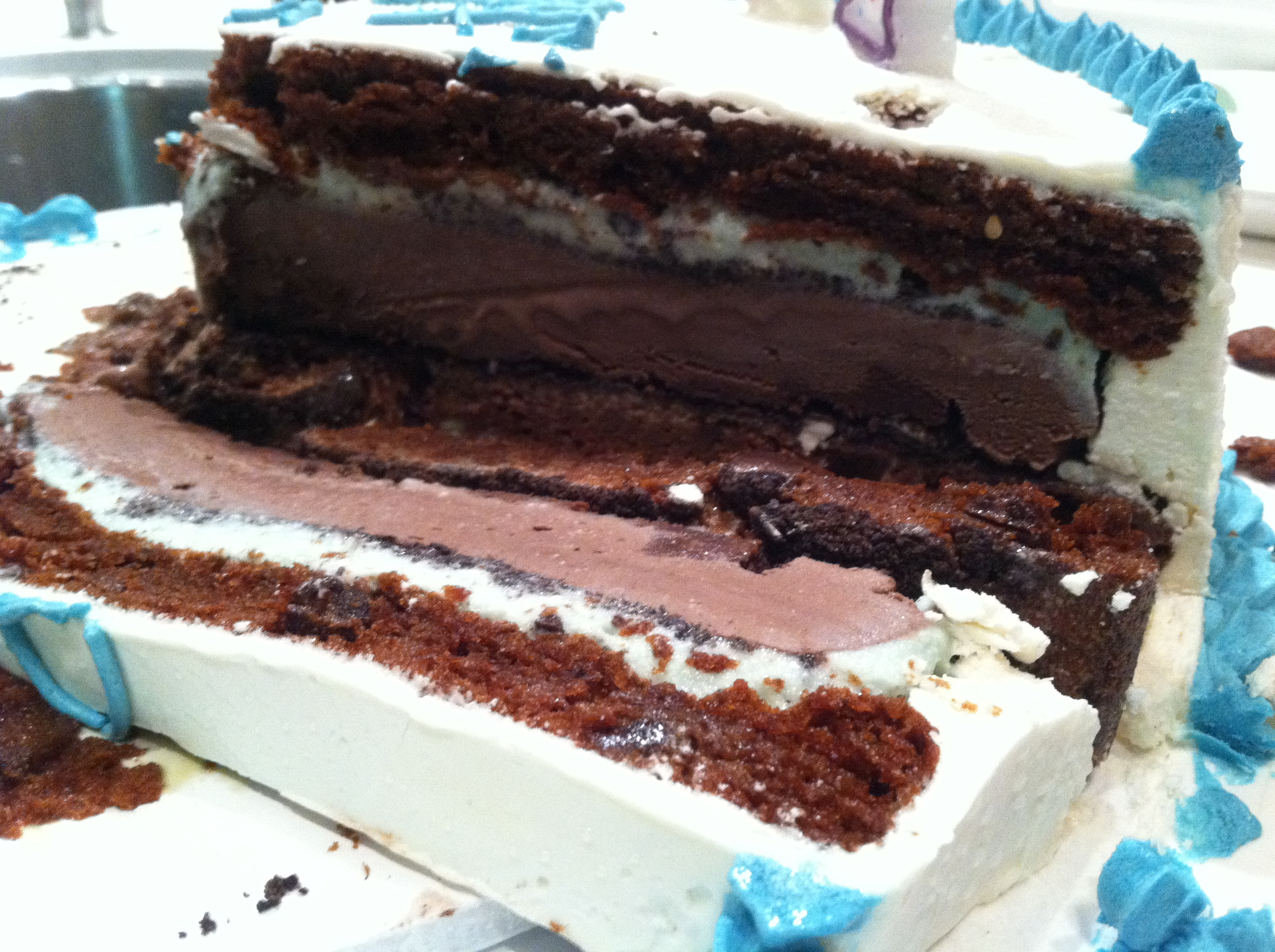 Gluten Free Chocolate Mint Chip Ice Cream Cake